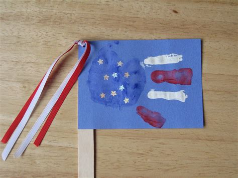 american flag crafts for the 4th happy home 878 | handprint flag craft1