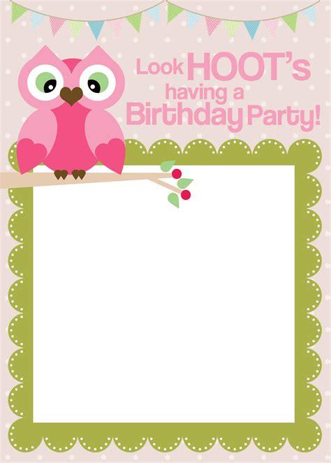 Free Birthday Templates by Free Printable Invitations Templates