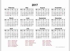 2017 Accounting Period Calendar 445 Free Printable