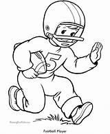 Football Coloring Sheets Printable Player Boys sketch template
