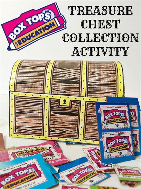 box tops  education treasure chest collection activity