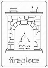 Fireplace Chimney Coloringoo sketch template