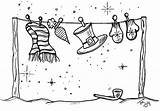 Disney Coloring Christmas Pages Clothesline Cruise Card Clipart Line Clothes Drawing Dream sketch template