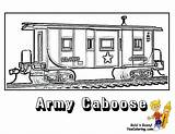 Coloring Train Pages Caboose Army Template Trains Yescoloring Ironhorse Colouring Printable Military Sheets Print Boys Adult Books sketch template