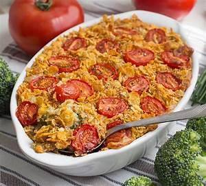 Quinoa Brokkoli Auflauf mit Cornflakes Sesam Kruste vegan