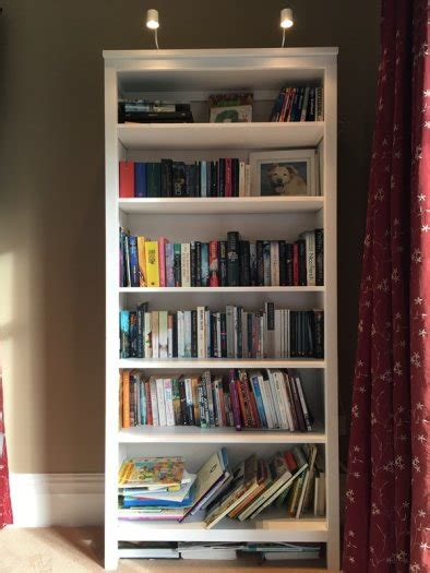 Ikea White Hemnes Bookcase by Ikea Hemnes Bookcase White Stain Incl Led Lights For Sale
