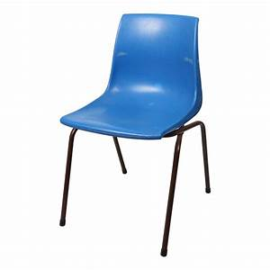 Blue plastic stackable chair for Blue plastic chair