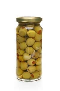 Glass Jar Olives