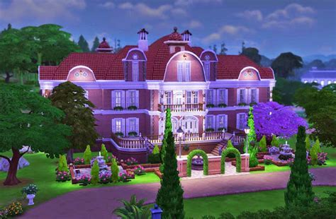 The Brick Mansion   Sims 4 Houses