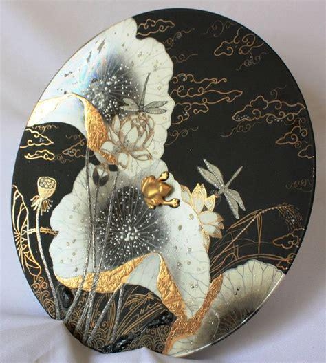 peinture sur porcelaine technique moderne plateau modern designs