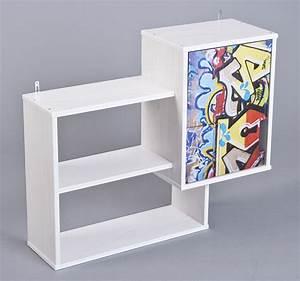 Etagere Chambre Enfant : etagere murale kidz grafiti blanc grafity ~ Teatrodelosmanantiales.com Idées de Décoration