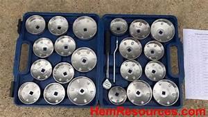 Betooll Hw0103 23pcs Aluminum Alloy Cup Type Oil Filter