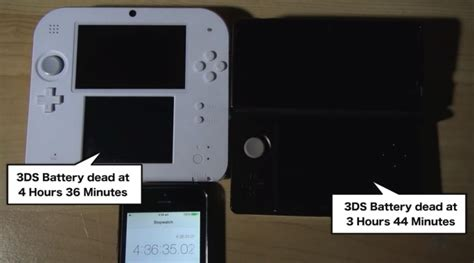 nintendo ds  ds battery life analysis product reviews net