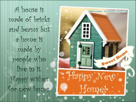 New Home Messages And Wishes