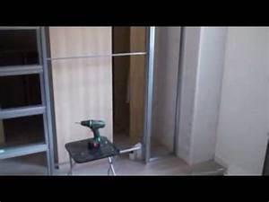renovation chambre parquet porte coulissante dressing With montage parquet flottant