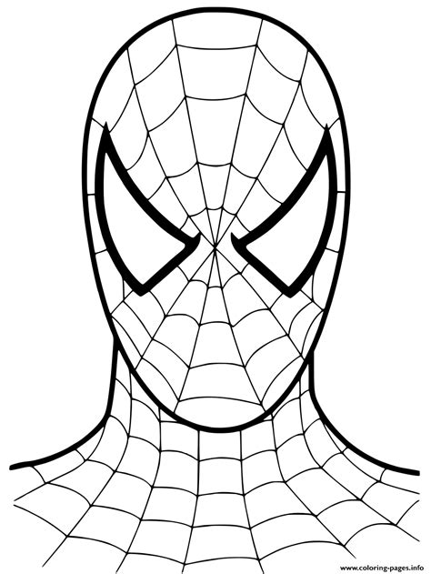 spiderman cartoon mask  coloring pages printable