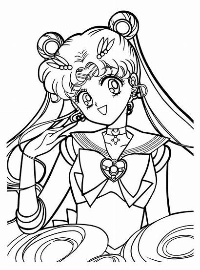 Sailor Moon Coloring Pages Animated Sailormoon Printable