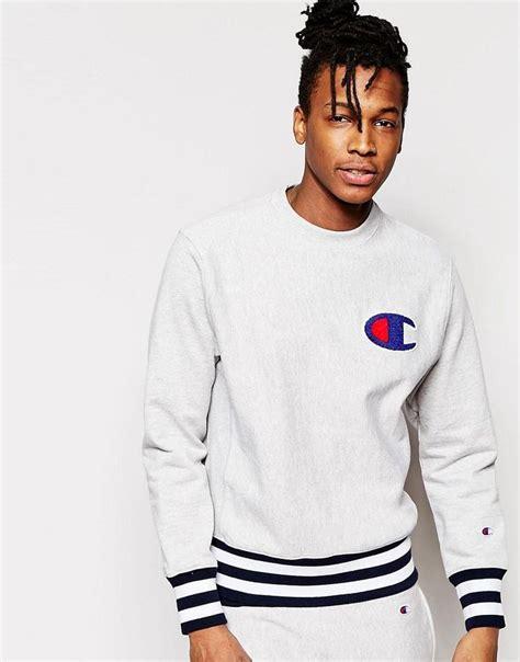 Champion   Champion Sweatshirt With Logo and Ribbed Hem   A- SS18   Pinterest   ud2f0uc154uce20