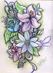 Flower Tattoo Drawing Designs