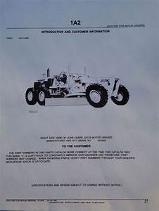 John Deere Jd 570 570a Motor Grader Parts Manual Catalog