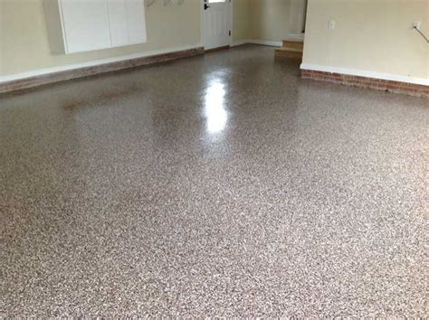 granite garage floor in cary nc flake broadcast witcraft painting renovation