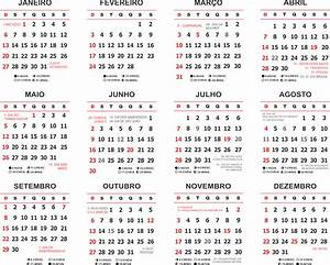 Base Calendário 2019 Simples com Feriados Imagem Legal