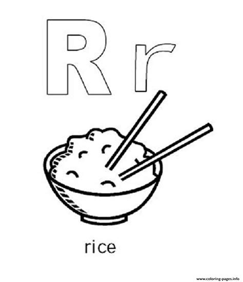Coloring Rice by Rice Free Alphabet S4eea Coloring Pages Printable