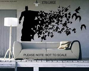 batman xtra large size wall decal wall art sticker With batman wall decal