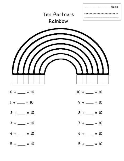 rainbow partners math homeschooling pinterest math