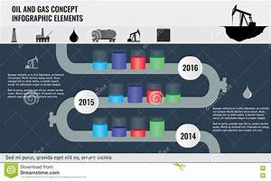 Oil And Gas Concept Infographic Design Elements With