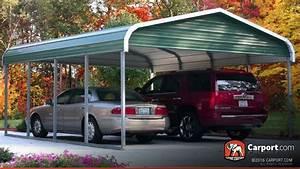 Carport Maße Für 2 Autos : two car carport 18 39 x 21 39 regular roof shop metal ~ Michelbontemps.com Haus und Dekorationen