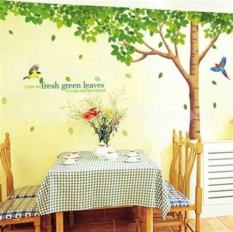 lemon tree removable wall stickers tree  birds