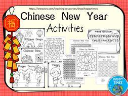 Free Ks1 Chinese New Year Activities By Hoppytimes  Teaching Resources