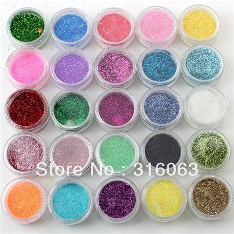 acrylic powder colors free shipping 25 colors acrylic nail powder mix glitter