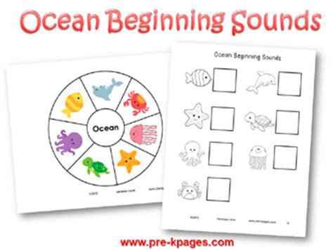 theme activities in preschool 572 | ocean beginning sounds activity