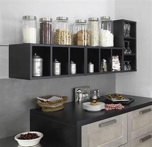Rangement cuisine deco mural pratique cote maison for Deco cuisine pour salon de jardin