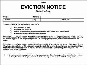 eviction letter pdf hunecompanycom With eviction notice letter pdf