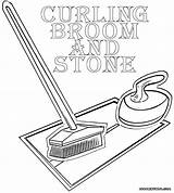 Curling Iron Template Coloring sketch template