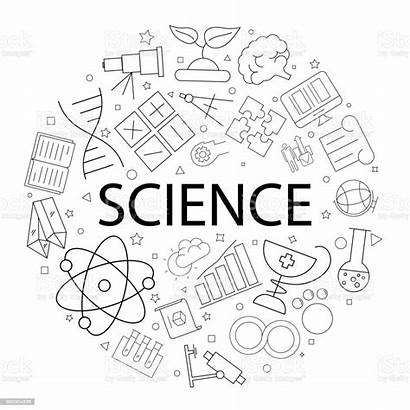 Science Word Background Vector Pattern Illustration Abstract