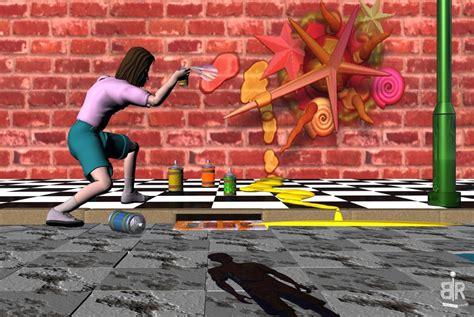 Grafiti Ular :  Digitale Kunst, Graffiti Von Rudolf