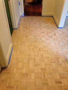 wood floor refinishing project near san marco With parquet finish