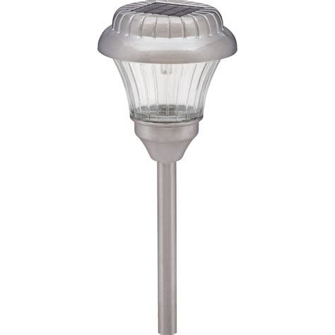 lz418pg10w malibu metal solar lights pewter 10 pack