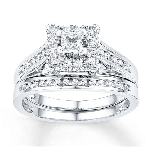 diamond bridal set  ct tw  cut  white gold