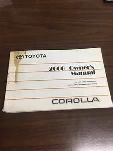 Owners Manual Toyota Corolla 00