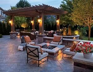 terrasse feuerstelle finest with terrasse feuerstelle With feuerstelle garten mit aluminium balkon kosten