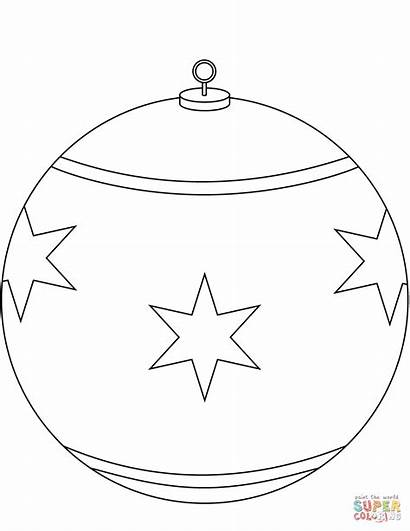 Ornament Coloring Christmas Round Pages Drawing Printable