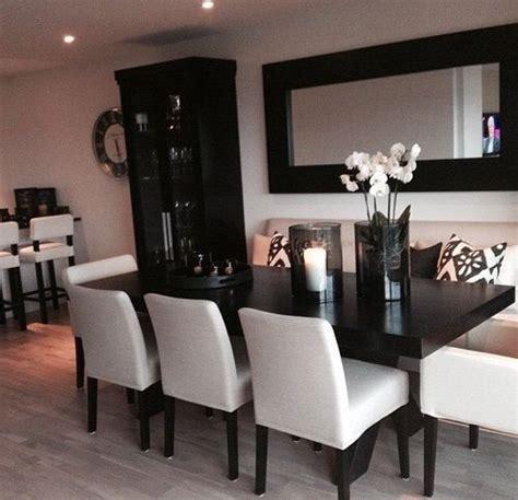 decoracion de comedores en blanco  negro habitaciones