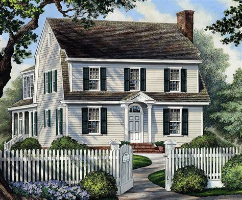 colonial home  narrow lot wp architectural designs house plans