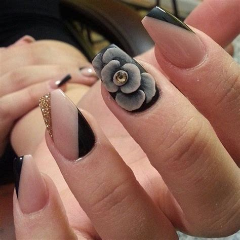 black rose nail art pictures   images