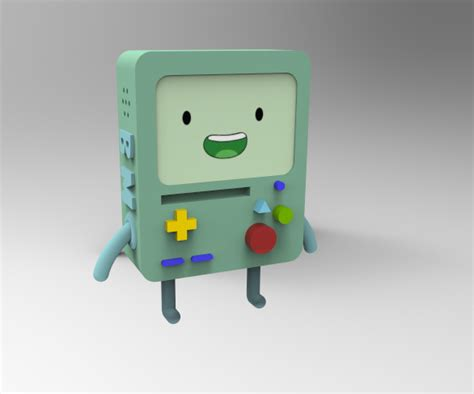 Cartoon Network™'s Bmo Character Model On Scad Portfolios